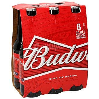 Budweiser Cervezas Pack 6 botellines x 25 cl