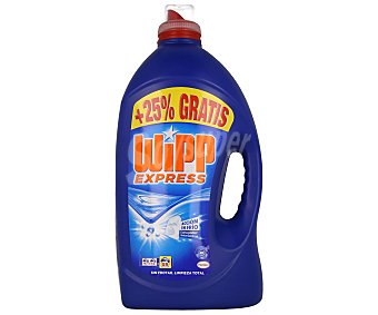 Wipp Express Detergente líquido para lavadora Pack de 2 unidades de 66 dosis