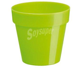 VAN Maceta plástica con diseño clásico de color pistacho 1 Unidad
