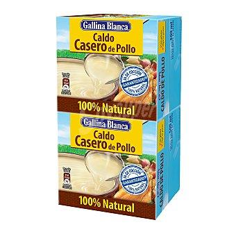 GALLINA BLANCA Caldo casero de pollo 2 envases de 500 ml
