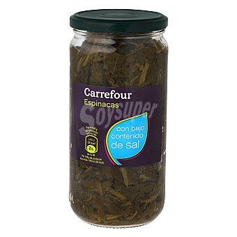 Carrefour Espinacas al natural con bajo contenido en sal 425 g