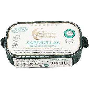 Conservas de cambados Sardinillas en aceite de oliva 16-22 piezas Lata 81 g neto escurrido