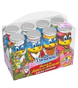 Danone - Danonino Yogur sabor fresa Bebedino Danone pack de 8x100 g