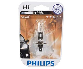 Philips Bombilla halógena para automóvil, modelo H1 Visión, potencia: 55W 1 Unidad