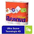 Papel higiénico Magic XL blanco Paquete 9 rollos Renova