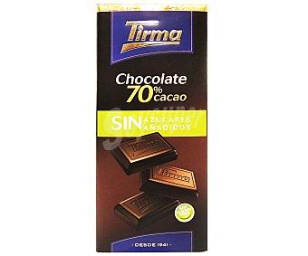 Tirma Chocolate Negro 70% Cacao sin azúcar 75 g