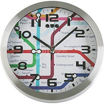 QUO Reloj de pared redondo 30 cm metro Londres