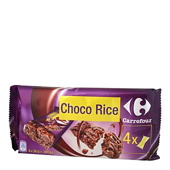 Carrefour Barritas de choco Rice Pack de 4x36 g