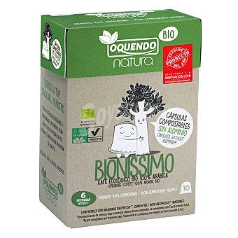 Nespresso Café Bionissimo ecológico en cápsulas Oquendo compatible con 10 ud