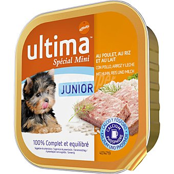 Ultima Affinity Alimento para perros con pollo, arroz y leche Special Mini Junior Tarrina 150 g