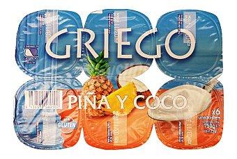 PRODUCTO RECOMENDADO Yogur griego coco y piña Pack 6 x 125 g - 750 g