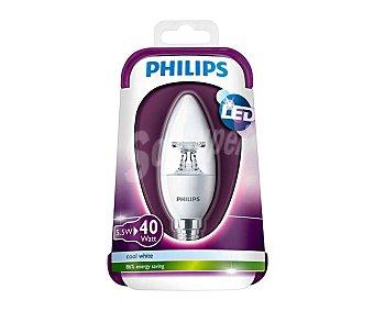 Philips Bombilla led vela de 5.5W, con casquillo E14 (fino) y luz blanca philips