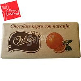 Orbea Chocolate negro con naranja Tableta 125 g