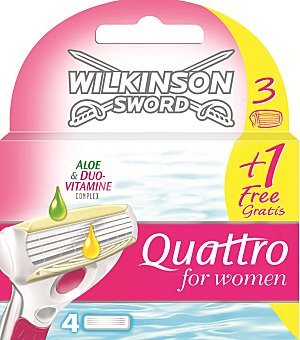 Wilkinson Recambio máquina Quattro bikini 4 hojas