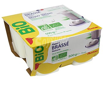 Auchan Yogur natural ecológico Bio 4 x 125 gr