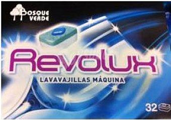 Bosque Verde Detergente lavavajillas pastillas revolux Caja 32 u