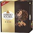 Helado de avellana con cobertura de chocolate negro 4 unidades Estuche 200 ml Ferrero Rocher