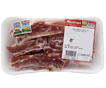 ALCAMPO PRODUCCIÓN CONTROLADA Costillas de cerdo, raza Duroc, cortadas en tiras auchan producción controlada 450.0 Aproximados