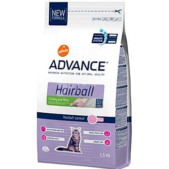 Advance Affinity Alimento de alta gama para gatos adultos para prevenir bolas de pelo rico en pavo y arroz Hairball Bolsa 1,5 kg