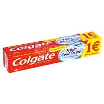 Colgate Pasta dentifrica triple cool stripe Tubo 75 ml