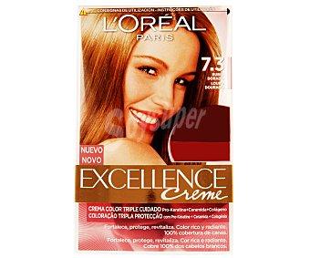 Excellence L'Oréal Paris Tinte de color rubio dorado nº 7.3 Pack de 2 unidades