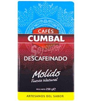 Cumbal Café descafeinado molido 250 g