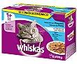 Comida para gatos adultos húmeda a base de pescado 12 uds. de 100 gr Whiskas