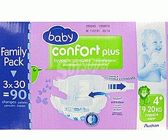 Auchan Pañales Confort para Niños de 9 a 20 Kilogramos Talla 4 96u