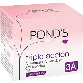 Pond's Crema nutritiva triple acción anti-arrugas anti-flacidez y anti-manchas piel madura con regalo de crema facial Tarro 50 ml
