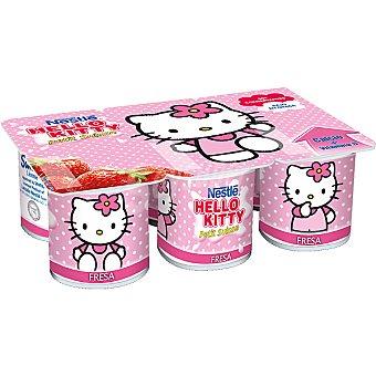 Nestlé Petit suisse sabor fresa Hello Kitty pack 6 unidades 50 g