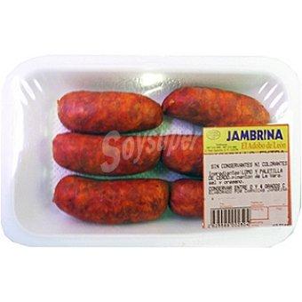 Jambrina Chorizo barbacoa peso aproximado Bandeja 400 g