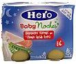 Tarrito de guisantes con jamón cocido Pack de 2 unidades de 200 gramos Hero Baby