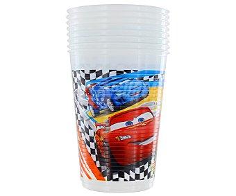 Disney Vasos de plástico para cumple con original ilustración de la película Cars, 200 Mililitros Pack de 8 Unidades