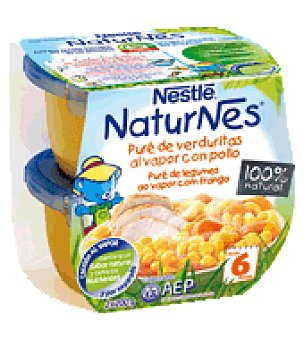 Naturnes Nestlé Puré de merluza Naturnes Pack de 2x200 g