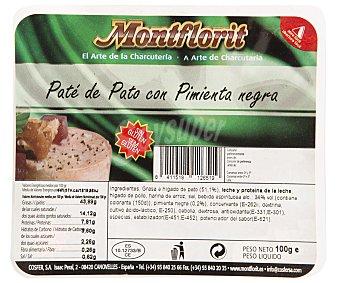 Montflorit Paté de pato a la pimienta negra Envase 100 g