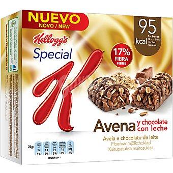 Kellogg's Barritas de avena y chocolate con leche 17% de fibra Paquete de 240 g