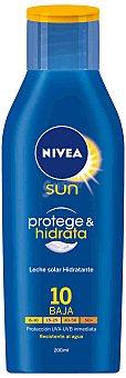 Nivea Leche solar hidratante FP 10 Protección baja 200 ml