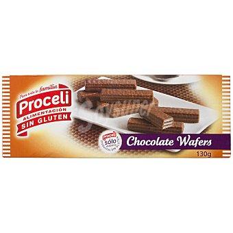 Proceli Waffers de chocolate sin gluten Caja 130 g