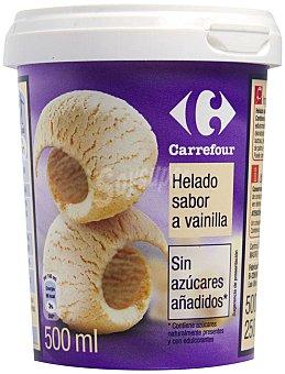 Carrefour Helado vainilla sin azucar 500 g