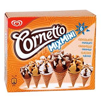 FRIGO CORNETTO Mini surtido de conos de helado varios sabores estuche 360 ml 6 unidades
