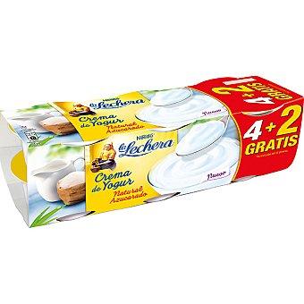La Lechera Nestlé Crema de yogur natural azucarado + 2 unidades gratis Pack 4 unidades 125 g