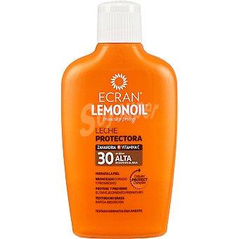 ECRAN LEMONOIL broncea y protege leche protectora de zanahoria + vitamina C FP-30 resistente al agua frasco 200 ml