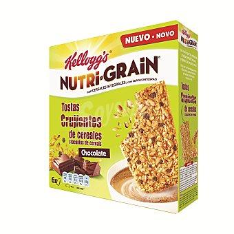 Nutri Grain Kellogg's Nutri Grain galletas crujientes de chocolate Pack de 6x40 gr - 240gr