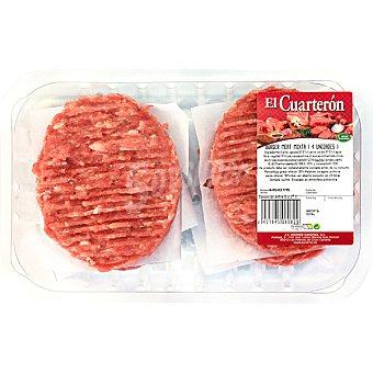 EL CUARTERON Burger Meat Mixta bandeja 360 g 4 unidades