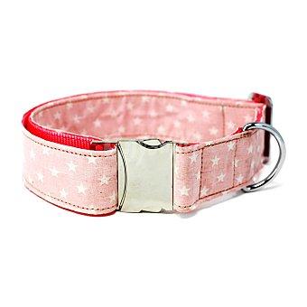Biozoo Axis Collar rosa con estrellas para perros 46-55cm x 2,5 cm 1 unidad