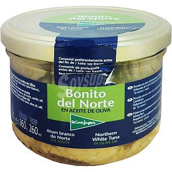 El Corte Inglés Bonito en aceite de oliva Frasco 160 g neto escurrido