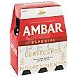 Cerveza rubia nacional pack 6 botellas 25 cl Pack 6 botellas 25 cl Ambar