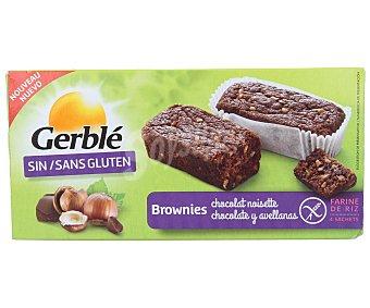 Gerblé Brownie con avellanas sin gluten 4 unidades de 37,5 gramos
