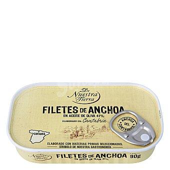 De nuestra tierra Filetes de anchoa del Cantábrico en aceite de oliva 90 g