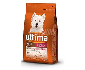 ULTIMA Seniro Mini Comida completa para perros de más de 8 años, entre 1-10 kg rica en pollo y arroz 1,5 kilogramos